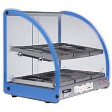 Skyfood FWD2-18B 18'' Food Warmer Display Case - Double Shelf - Blue