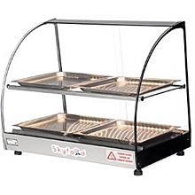 Skyfood FWD2-22-4P 22'' Food Warmer Display Case - Double Shelf with 4 Pan