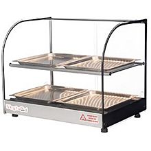 Skyfood FWDC2-22-4P 22'' Food Warmer Display Case - Double Shelf with 4 Pans
