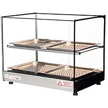 Skyfood FWDS2-22-4P 22'' Food Warmer Display Case - Double Shelf with 4 Pans