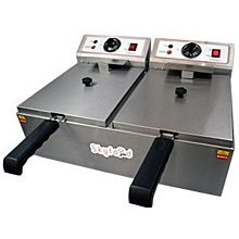 Skyfood FED-20-N Electric Fryer - Countertop Double Well