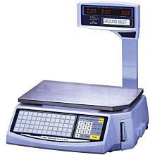Skyfood LS-100 60 lb Dual Range Printing Price Computing Scale w/ 1000 PLU Memory