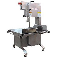 "Skyfood MSKLE Table Top Meat And Bone Saw 74"" Blade S/S 1/2 HP - All In Stainless Steel"