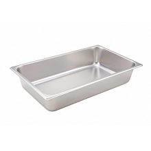 "Winco SPF4 Full Size Steam Table Food Pan, 4"" Deep"