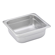 "Winco SPJH-602 Sixth size stainless steel steam table pan, 2 1/2"" depth"