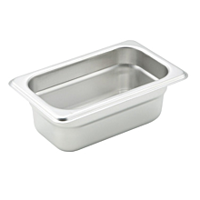 "Winco SPJH-902  Ninth size stainless steel steam table pan, 2 1/2"" depth"