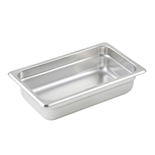 "Winco SPJL-402 Quarter size stainless steel steam table pan, 2 1/2"" depth"