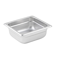 "Winco SPJL-602 Sixth size stainless steel steam table pan, 2 1/2"" depth"