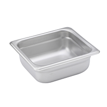 "Winco SPJM-602 Sixth size stainless steel steam table pan, 2 1/2"" depth"