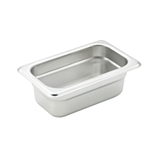 "Winco SPJM-902  Ninth size stainless steel steam table pan, 2 1/2"" depth"