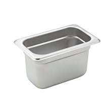 "Winco SPJM-904  Ninth size stainless steel steam table pan, 4"" depth"