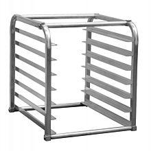Prepline SPR-7KD-IN 7-Pan Half Size End Loading Insert Aluminum Sheet Pan Rack for Commercial Reach-Ins Refrigerators / Freezers