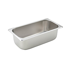"""Winco SPT4 1/3 Size Steam Table Food Pan, 4"""" Deep"""