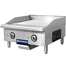 "Standard Range SR-EG24 24"" Commercial Electric Thermostatic Countertop Griddle, 208-240V"