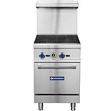 "Standard Range SR-R24-24CB 24"" Commercial Gas Range with 24"" Char-broiler Top, 1 Oven - 103,000 BTU"