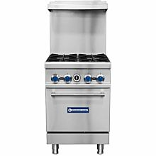 "Standard Range SR-R24 24"" Commercial Gas Range with 4 Burners, 1 Oven - 153,000 BTU"