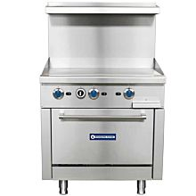 "Standard Range SR-R36-36MG 36"" Commercial Gas Range with 36"" Griddle Top, 1 Oven - 123,000 BTU"