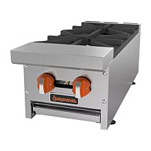 "Sierra Range SRHP-2-12 12"" Commercial Hot Plate with 2 Burners - 60,000 BTU"