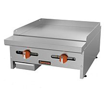 "Sierra Range SRMG-24 24"" Manual Gas Griddle with 2 Burners - 46,000 BTU"