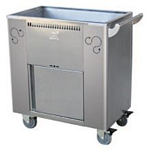 "Global ST-04 27"" Commercial Stainless Steel Steamer Trolley"