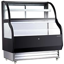 "Marchia MSTAR-50 50"" Refrigerated Open Display Case with Refrigerated Glass Top"