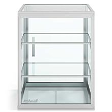 "Custom Glass 3 Shelves - 12"" Countertop Straight Glass Food Display Case, Dry"