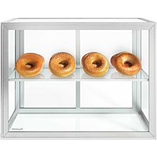 "Custom Glass 28"" Countertop Straight Glass Food Display Case 1 Shelf Dry"