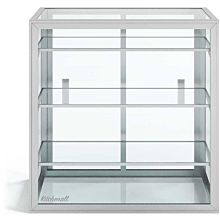 "Custom Glass 24"" Countertop Straight Glass Food Display Case, Dry with 3 Shelves"
