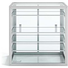 "Custom Glass 20"" Countertop Straight Glass Food Display Case with 4 Shelves Dry"