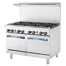 Turbo Air Radiance TAR-8 8 Burner Gas Commercial Range with Oven - 326K BTU