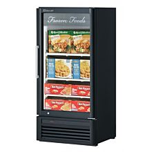 "Turbo Air TGF-10SD-N 26"" One Glass Swing Door Super Deluxe Merchandiser Freezer - 7.9 Cu. Ft."