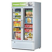 "Turbo Air TGF-35SD-N 40"" One Glass Swing Door Super Deluxe Merchandiser Freezer - 28.4 Cu. Ft."