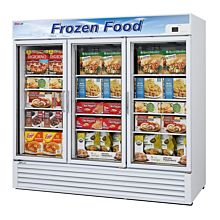 "Turbo Air TGF-72F-N 82"" Three Glass Swing Door Merchandiser Freezer - 58.5 Cu. Ft."