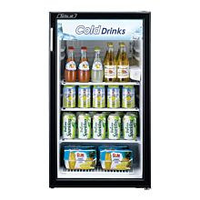 "Turbo Air TGM-5R-N6 19"" One Glass Swing Door Countertop Merchandiser Refrigerator, White - 4.7 Cu. Ft."