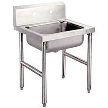 "Global TMS2523 25"" Stainless Steel Slop Sink 8"" Bowl"