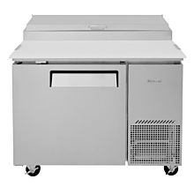 """Turbo Air TPR-44SD-N 44"""" Refrigerated Super Deluxe Pizza Prep Table, 1 Door - (6) x 1/6 Pans"""