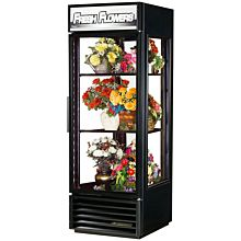 True G4SM-23FC-HC~TSL01 1 Section Floral Cooler with Swinging Door, Black, 115v