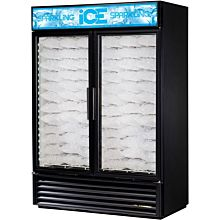 True GDIM-49NT-LD Indoor Ice Merchandiser w/ (117) 8 lb Bag Capacity, LED Lighting, Black, 115v