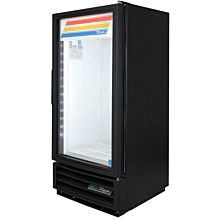 "True GDM-10F-HC-LD 24"" One-Section Display Freezer with Swinging Door Bottom Mount Compressor, Black, 115v"