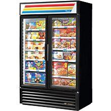 "True GDM-43F-HC~TSL01 47"" Two-Section Display Freezer with Swinging Doors Bottom Mount Compressor, White, 115v"