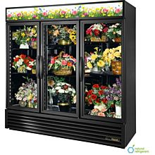 True GDM-72FC-HC~TSL01  3 Section Floral Cooler w/ Swinging Door - White, 115v