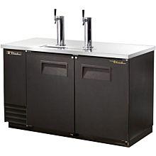 """True TDD-2-HC 59"""" Draft Beer System w/ (2) Keg Capacity - (2) Columns, Black, 115v"""