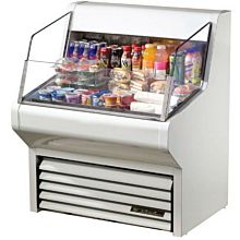 """True THAC-36 36"""" Horizontal Open Air Cooler with (3) Levels, White, 115v"""