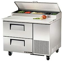 """True TPP-44D-2 44"""" Pizza Prep Table with Refrigerated Base, 115v"""