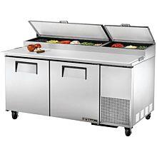 "True TPP-67 67"" Pizza Prep Table w/ Refrigerated Base, 115v"
