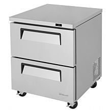 "Turbo Air TUF-28SD-D2-N 28"" Two Drawer Undercounter Freezer - 7.0 Cu. Ft."