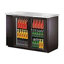 "Migali C-BB48G 48"" Glass Door Back Bar Cooler, Stainless Steel Top"