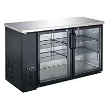 Coldline CBB-60G 60″ Black Counter Height Narrow Glass Door Back Bar Refrigerator