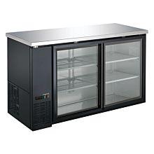 """Coldline UBB-24-60G-Y-HC 60"""" Sliding Glass Door Back Bar Refrigerator, Black"""