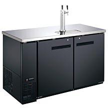 Coldline UDD-24-48-HC 48″ Black 2 Tap Refrigerated Direct Draw Beer Dispenser